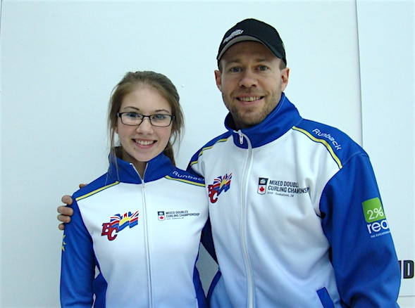 Father-daughter duo, Jim and Jaelyn Cotter (Curling Canada/Darlene Danyliw photo)