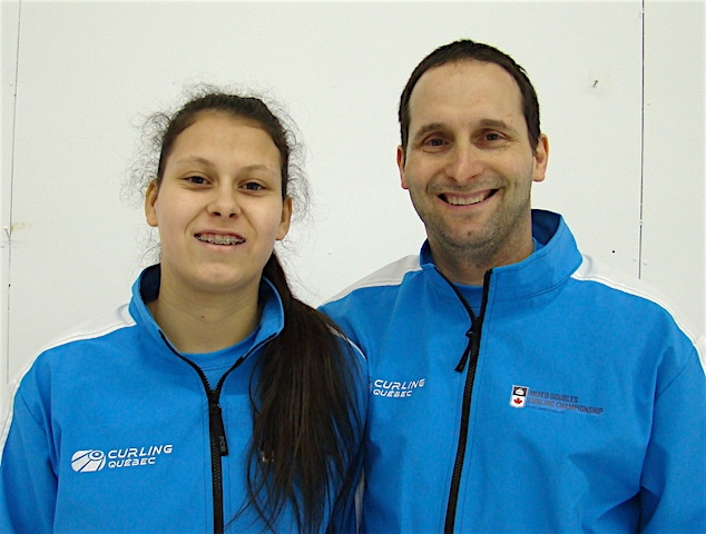 Another father-daughter duo, Robert and Emilie Desjardins (Curling Canada/Darlene Danyliw photo)