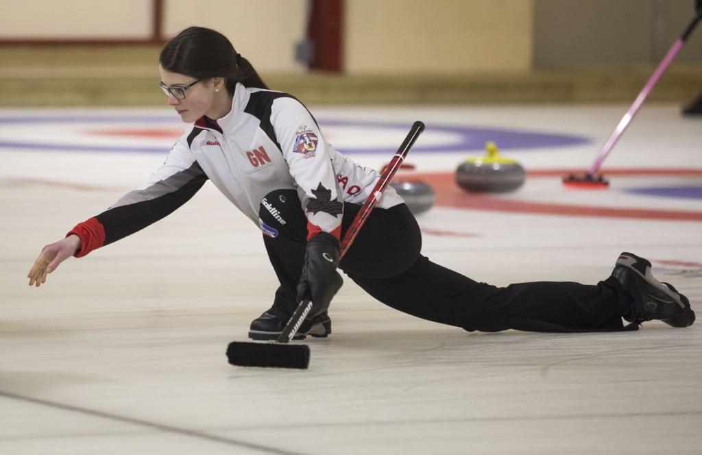 Team Canada skip Mary Fay (WCF/Marissa Tiel photo)