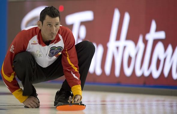 Ottawa Ont.Mar 3, 2016.Tim Hortons Brier. Team Nunavut skip Wade Kingdom, Curling Canada/ michael burns photo