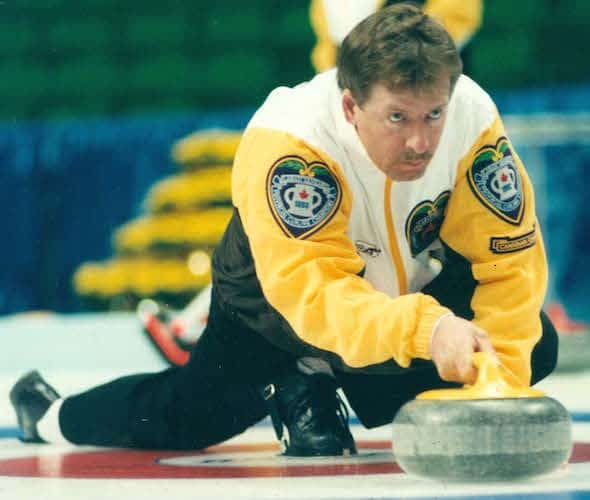 Vic Peters represented Manitoba at three Briers, winning in 1992. (Photo, Curling Canada/Michael Burns)