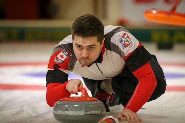 Team Canada skip Matt Dunstone (WCF/Richard Gray photo)