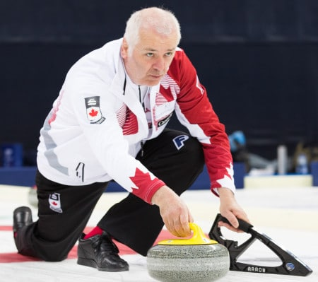 Nova Scotia skip Alan O'Leary skipped Canada to a silver medal at the 2015 World Seniors in Sochi, Russia. (Photo, World Curling Federation)