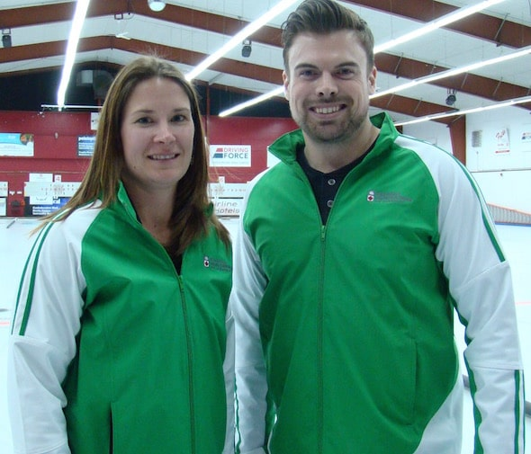 Marliese Kasner and Dustin Kalthoff will wear the Maple Leaf at the 2016 World Mixed Doubles Championship. (Photo Curling Canada/Darlene Danyliw)