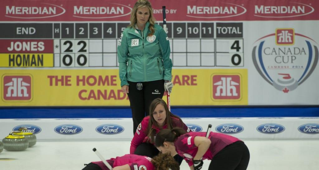 2014 Home Hardware Canada Cup of Curling, Camrose, Rachel Homan, Joanne Courtney, Lisa Weagle, Jennifer Jones, CCA/michael burns photo