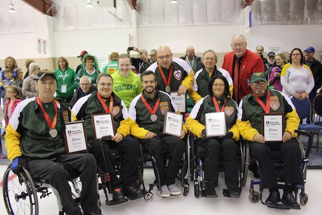 Team Northern Ontario, 2016 Canadian Wheelchair Curling Championship silver medallists (Curling Canada photo)