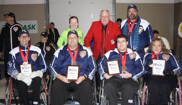 Team Nova Scotia, 2016 Canadian Wheelchair Curling Championship bronze medallists (Curling Canada)
