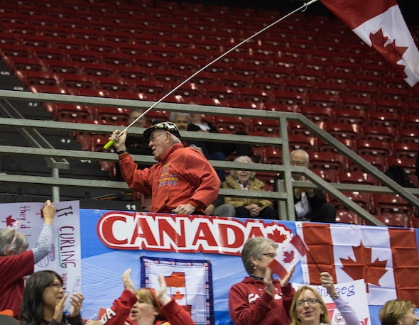 Jack Cox of Haliburton, Ont., is waving the flag for Canada at the 2016 World Men's Championship in Basel. (Photo, World Curling Federation/Céline Stuckli)