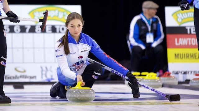 Karlee Burgess caps off the season by competing at the Humpty's Champion's Cup, a Grand Slam of Curling event held in Sherwood Park, Alta. (Photo Anil Mungal)