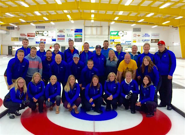 The Alberta Rocks coaching staff after a very successful camp (Photo courtesy of Lindsay Mak)