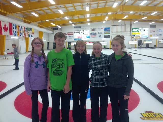 Some campers chillin' with Canadian Champion and Olympic medalist, Amy Nixon/Photo courtesy of Simon Barrick