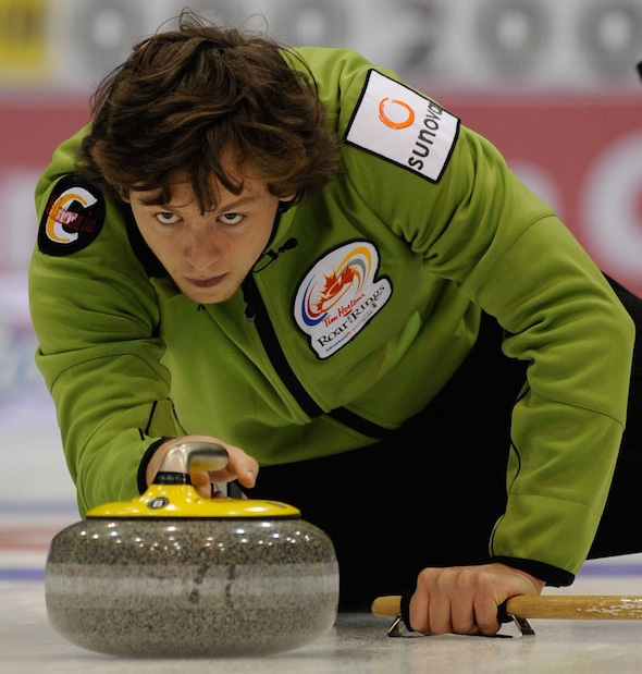 Jason Gunnlaugson and his Winnipeg team are on top of the Canadian Team Ranking System standings heading into play this weekend. (Photo, Curling Canada/Michael Burns)
