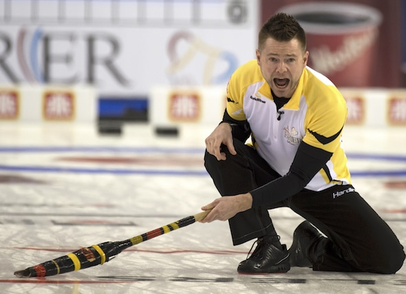 Mike McEwen and his team from Winnipeg are looking for CTRS points this weekend in Portage la Prairie, Man. (Photo, Curling Canada/Michael Burns)