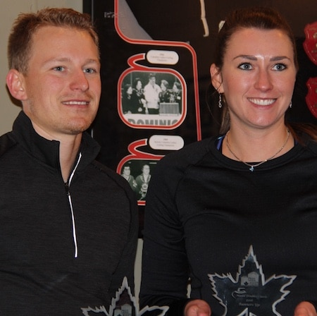 Runners-up Tyrel Griffith and Emma Miskew. (Photo, Glenn Hauptman)