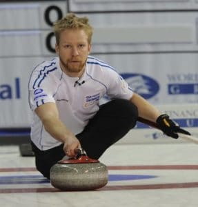 World Financial Group Continental Cup 2012. Skip Niklas Edin. CCA/michael burns photo