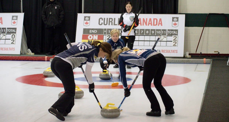Team Nova Scotia in action at the 2016 Travelers Curling Club Championship in Kelowna, B.C. (Curling Canada/Jessica Krebs photo)