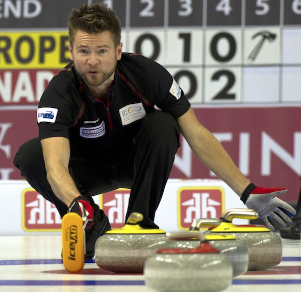 Mike McEwen will enter next week's Home Hardware Canada Cup with some much-needed momentum after a win Monday in Morris, Man. (Photo, Curling Canada/Michael Burns)