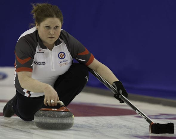 Kerry Galusha is savouring the chance this week to play on arena ice at the Grand Slam Tour Challenge in Cranbrook, B.C.