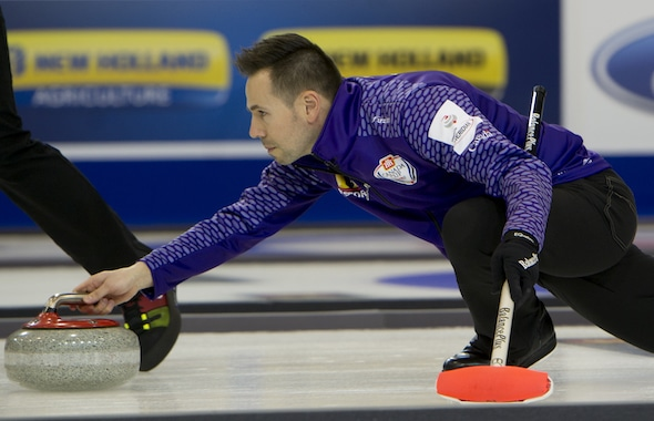 John Epping's victory this past weekend in Cookstown, Ont., landed his team in top spot in the Canadian Team Ranking System. (Photo, Curling Canada/Michael Burns)