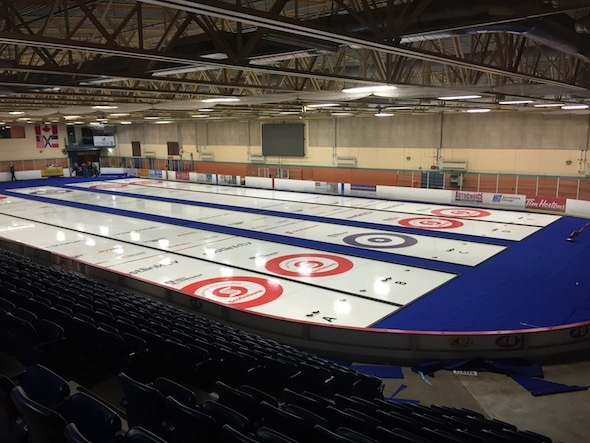 Canada's top mixed curling teams open play in the 2017 Canadian Mixed Championship at the Mariners Centre in Yarmouth, N.S. (Photo, courtesy Rick Allwright)