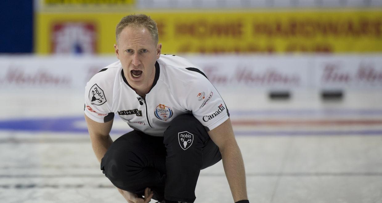 Grande Prarie AB, Dec 3, 2015, Home Hardware Canada Cup Curling, Team Jacobs skip Brad Jacobs, Curling Canada/ michael burns photo