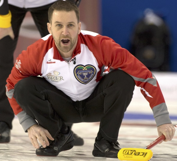 Brad Gushue's win on the weekend in North Battleford, Sask., has his team back on top of the CTRS men's standings. (Photo, Curling Canada/Michael Burns)