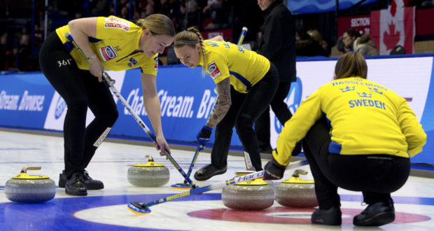 Sweden keeps rolling along at Ford World Women's Curling ...