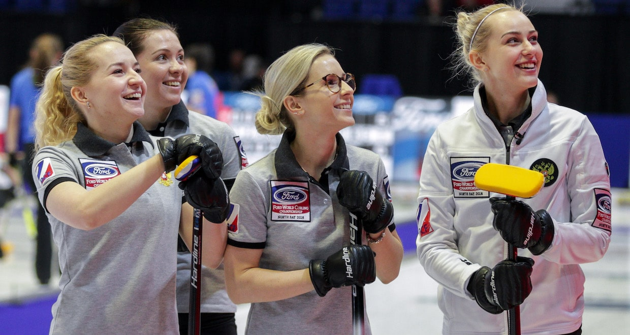 Russia, Sweden top standings at Ford World Women's Curling