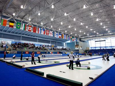 Vancouver Olympic Center, Curling Inside
