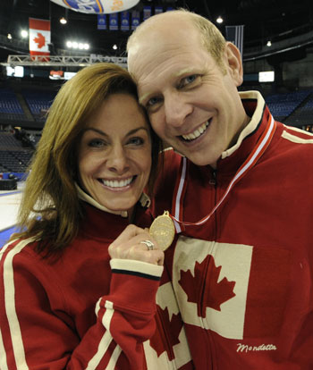 Kevin Martin and Cheryl Bernard at the 2009 Tim Hortons Roar of the Rings