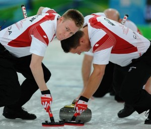 Marc Kennedy and Ben Hebert at the Olympics in Vancouver. (Photo: CCA/Michael Burns Photography)