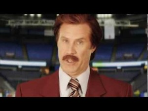 Ron Burgundy's message for Vic Rauter