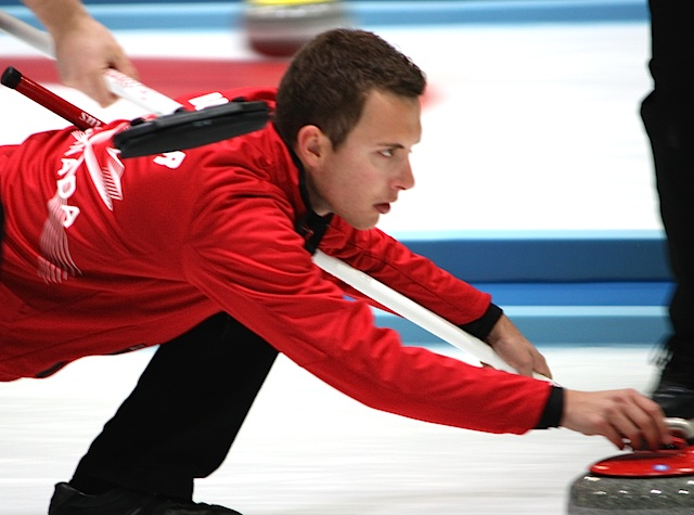 Brendan Bottcher in action at the 2013 Winter Universiade in Trentino, Italy (Photo Mary Beth Challoner)