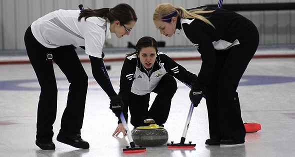Team Crocker, seen here representing Wilfrid Laurier University at the 2012 CIS/CCA University Curling Championships in Welland, Ont., are in Trentino, Italy, battling for a playoff spot at the 2013 Winter Universiade. (Photo CIS/CCA Curling Championships)
