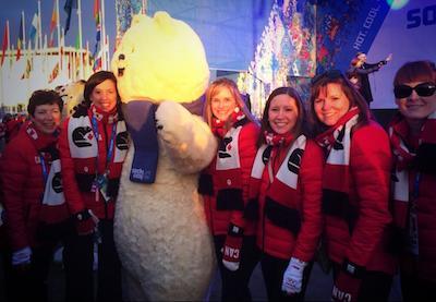 Giving some Team Jones love to the Sochi 2014 mascot!
