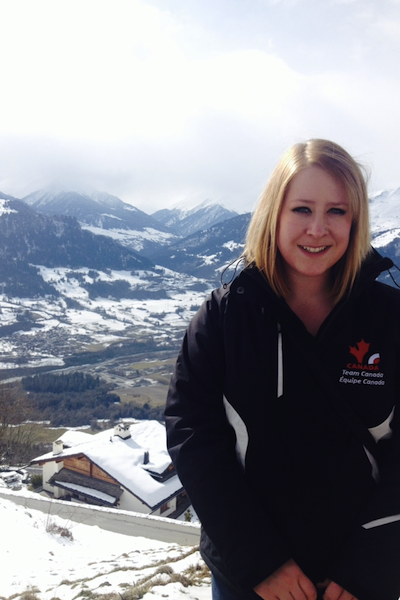 Brown ticked one item off her bucket list with a long-anticipated trip to Switzerland for the World Juniors (Photo courtesy K. Brown)