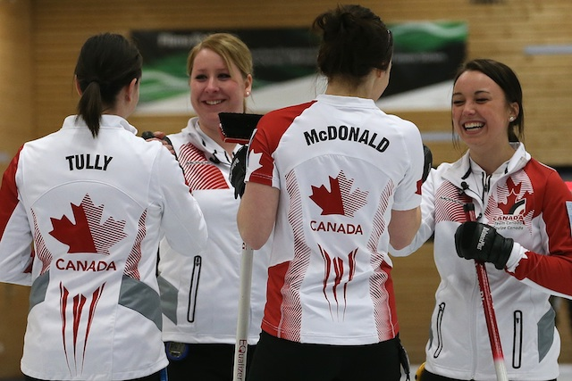 Claire Tully, Keely Brown, Taylor McDonald and Kelsey Rocque (Photo WCF/Richard Gray)