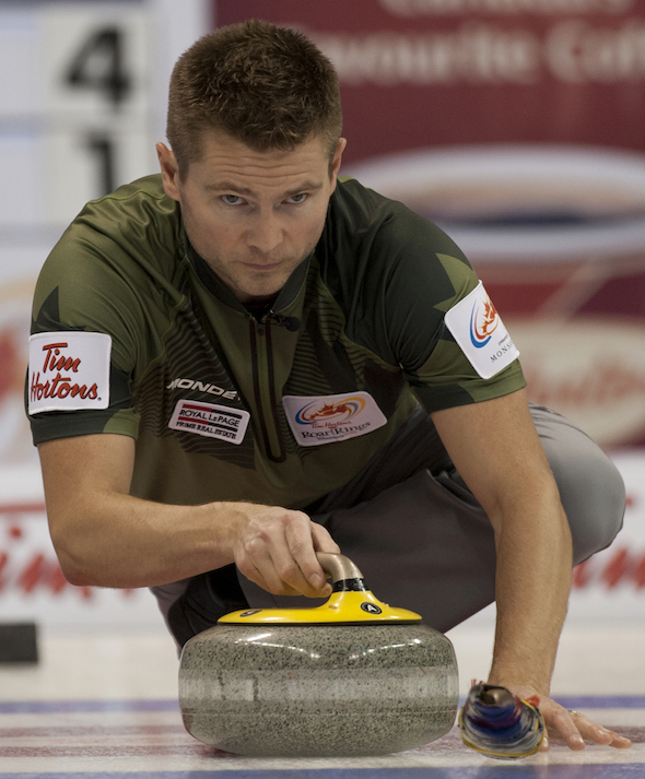 Winnipeg's Mike McEwen will be among the favourites at the Stu Sells Tankard this weekend in Oakville, Ont. (Photo, CCA/Michael Burns)