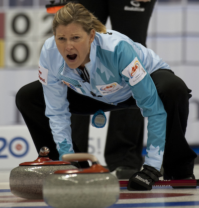 Sherry Middaugh's team from Coldwater, Ont., will be in action this weekend in Oakville. (Photo, CCA/Michael Burns)