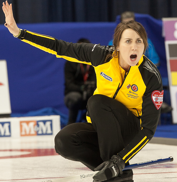 Andrea Crawford, a seven-time New Brunswick champion, will make her Alberta debut this weekend playing third for Edmonton's Val Sweeting. (Photo, CCA/Andrew Klaver)