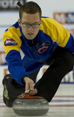 Edmonton's Brendan Bottcher won the men's title at the Saville Centre. (Photo, CCA/Michael Burns)