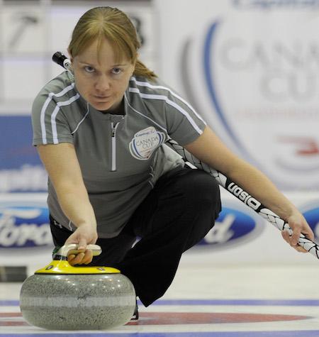 Amy Nixon is playing third for Team Heather Nedohin this season. (Photo, CCA/Michael Burns)